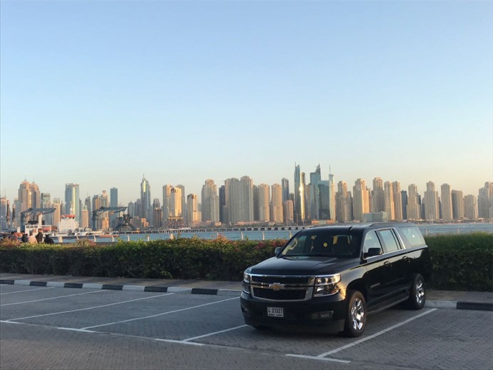 car rental with driver in dubai